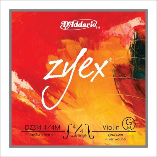 D'ADDARIO AND CO ZYEX VIOLIN SINGLE G STRING 4/4 SCALE MEDIUM TENSION