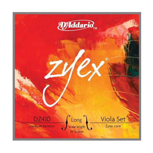 D'ADDARIO AND CO ZYEX VIOLA STRING SET LONG SCALE MEDIUM TENSION