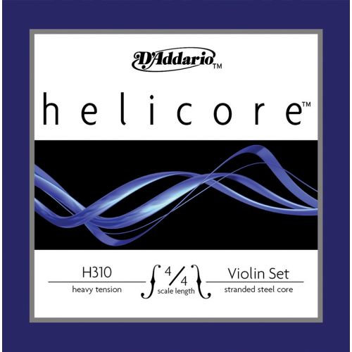 D'ADDARIO AND CO 4/4 HELICORE VIOLIN STRING SET SCALE HEAVY TENSION