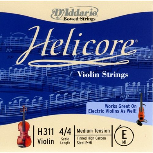 D'ADDARIO AND CO 4/4 HELICORE VIOLIN SINGLE E STRING SCALE MEDIUM TENSION