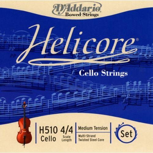 D'ADDARIO AND CO 4/4 HELICORE CELLO STRING SET SCALE MEDIUM TENSION