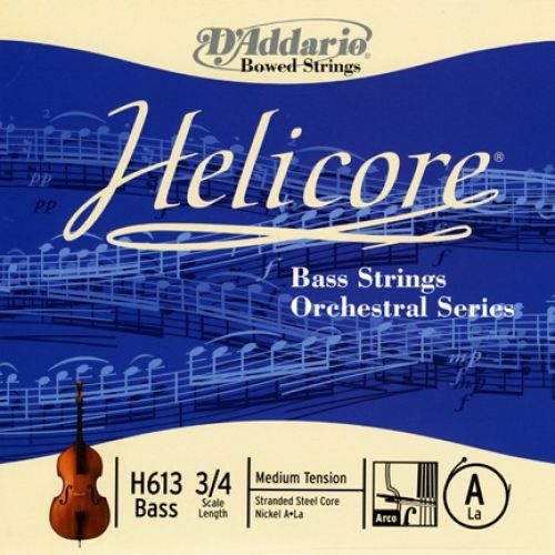 D'ADDARIO AND CO HELICORE ORCHESTRAL BASS SINGLE A STRING 3/4 SCALE MEDIUM TENSION