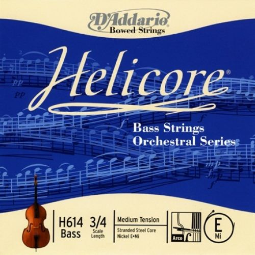 D'ADDARIO AND CO HELICORE ORCHESTRAL BASS SINGLE E STRING 3/4 SCALE MEDIUM TENSION