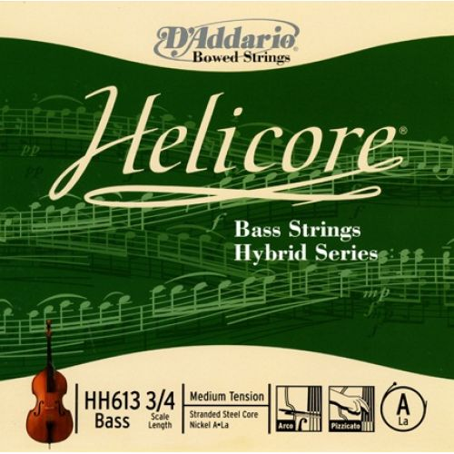 D'ADDARIO AND CO HELICORE HYBRID BASS SINGLE A STRING 3/4 SCALE MEDIUM TENSION