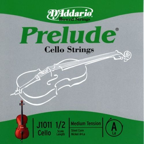 D'ADDARIO AND CO 1/2 PRELUDE CELLO SINGLE A STRING SCALE MEDIUM TENSION