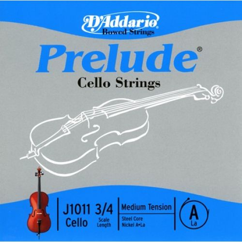 D'ADDARIO AND CO PRELUDE CELLO SINGLE A STRING 3/4 SCALE MEDIUM TENSION