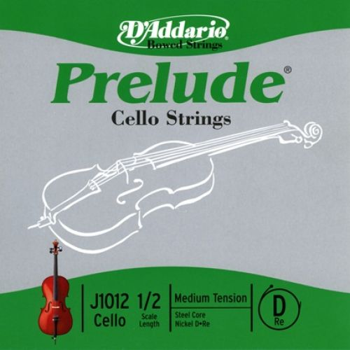 D'ADDARIO AND CO PRELUDE CELLO SINGLE D STRING 1/2 SCALE MEDIUM TENSION