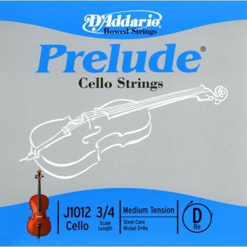 D'ADDARIO AND CO 3/4 PRELUDE CELLO SINGLE D STRING SCALE MEDIUM TENSION