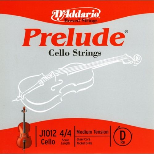 D'ADDARIO AND CO 4/4 PRELUDE CELLO SINGLE D STRING SCALE MEDIUM TENSION