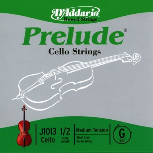 D'ADDARIO AND CO 1/2 PRELUDE CELLO SINGLE G STRING SCALE MEDIUM TENSION