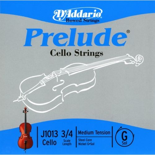 D'ADDARIO AND CO 3/4 PRELUDE CELLO SINGLE G STRING SCALE MEDIUM TENSION