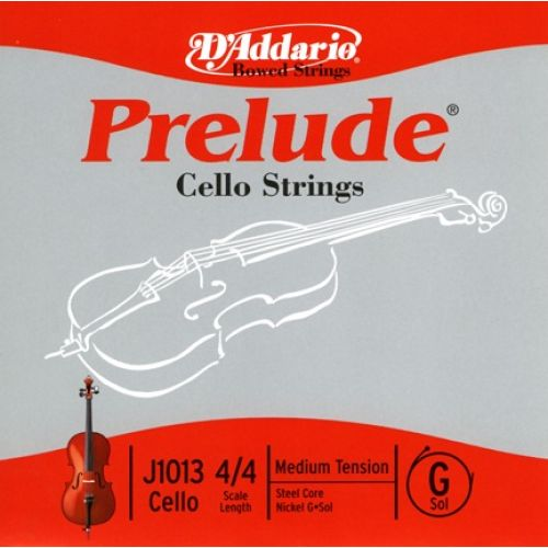 D'ADDARIO AND CO PRELUDE CELLO SINGLE G STRING 4/4 SCALE MEDIUM TENSION