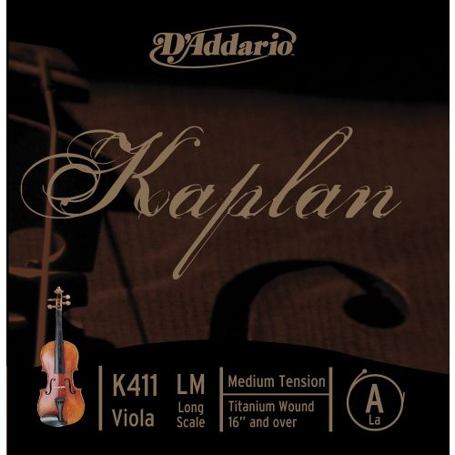 D'ADDARIO AND CO KAPLAN VIOLA SINGLE A STRING LONG SCALE MEDIUM TENSION