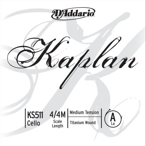 D'ADDARIO AND CO KAPLAN CELLO SINGLE A STRING 4/4 SCALE MEDIUM TENSION