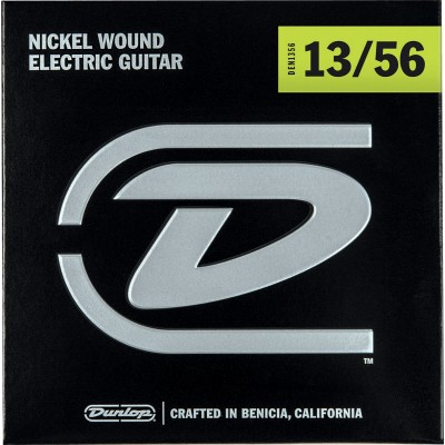 DUNLOP NICKEL PLATED STEEL ELECTRIC STRINGS EXTRA-HEAVY 13-56 ELECTRIC SET