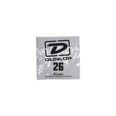 DUNLOP NICKEL PLATED STEEL ELECTRIC STRINGS UNIT ROUND THREAD 026