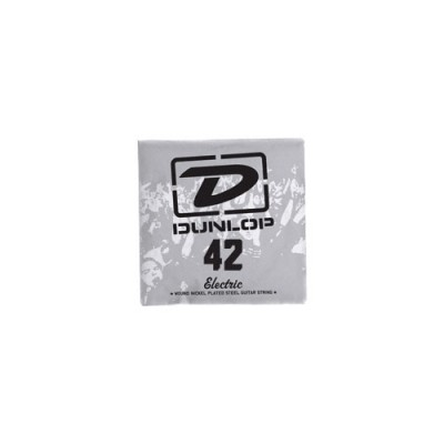DUNLOP NICKEL PLATED STEEL ELECTRIC STRINGS UNIT ROUND THREAD 042