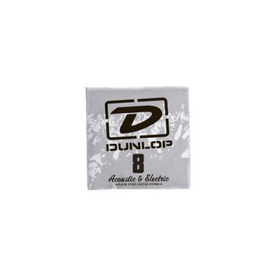 DUNLOP ELECTRIC STRINGS NICKEL PLATED STEEL UNIT SOLID STEEL 008
