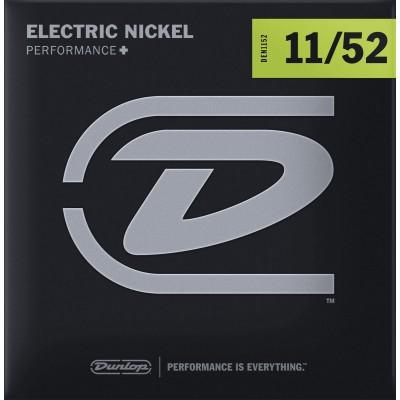 DUNLOP NICKEL PLATED STEEL ELECTRIC STRINGS NICKEL PLATED STEEL 11-52 SET