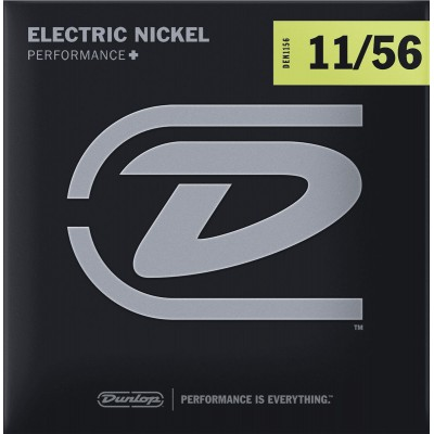 DUNLOP CORDES ELECTRIQUES NICKEL PLATED STEEL JEUX NICKEL PLATED STEEL 11-56