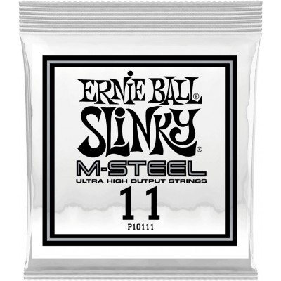 ERNIE BALL .011 M-STEEL PLAIN ELECTRIC GUITAR STRINGS