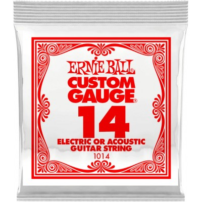 ERNIE BALL .014 PLAIN STEEL ELECTRIC OR ACOUSTIC GUITAR STINGS