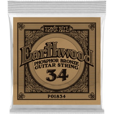 ERNIE BALL .034 EARTHWOOD PHOSPHOR BRONZE ACOUSTIC GUITAR STRINGS