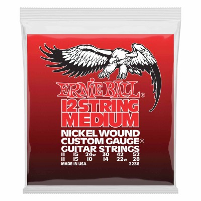 ERNIE BALL 12 STRINGS MEDIUM 11-11 / 52-28 2236