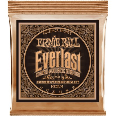 ERNIE BALL EVERLAST COATED ACOUSTIC PHOSPHORE BRONZE MEDIUM 13-56 2544