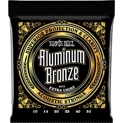 ERNIE BALL P02570 ALUMINUM BRONZE 10-50 EXTRA LIGHT
