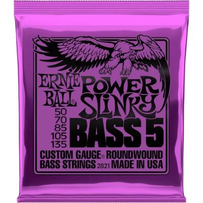 ERNIE BALL POWER SLINKY BASS 5 STRINGS 50-135 2821