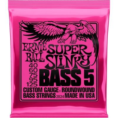 ERNIE BALL SUPER SLINKY BASS 5 STRINGS 40-125 2824