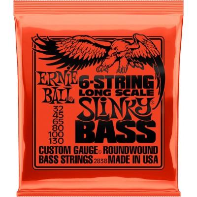 ERNIE BALL SAITEN BASS LONG SCALE SLINKY BASS 6 SAITEN 32-130 2838
