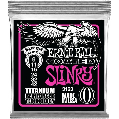 ERNIE BALL TITANIUM 3123 SUPER LIGHT 9 42