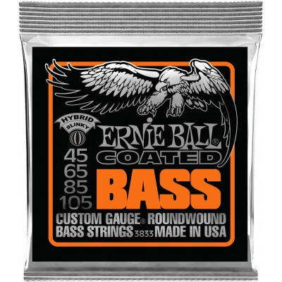 ERNIE BALL SET 3833 - COATED BASS 45-105