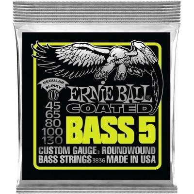 ERNIE BALL COATED BASS 5 STRINGS 45-130 3836