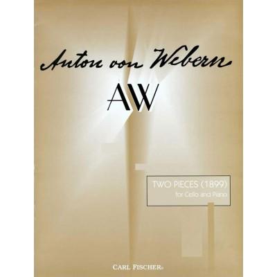CARL FISCHER WEBERN ANTON - 2 PIECES - CELLO AND PIANO