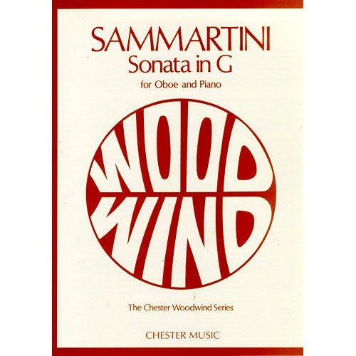 CHESTER PERCUSSION SAMMARTINI G. - SONATA IN G - HAUTBOIS ET PIANO