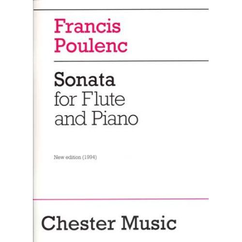 CHESTER MUSIC POULENC - SONATE POUR FLÛTE ET PIANO