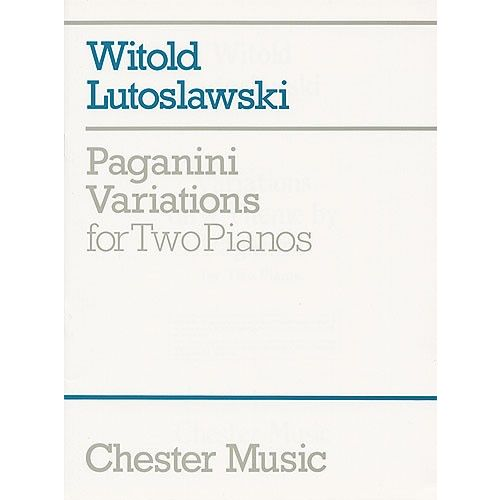 CHESTER MUSIC PAGANINI VARIATIONS FOR TWO PIANOS