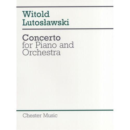 CHESTER MUSIC CONCERTO FOR PIANO AND ORCHESTRA - FULL SCORE - PIANO SOLO