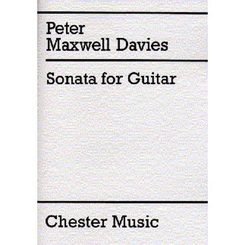 CHESTER PERCUSSION MAXWELL DAVIES P. - SONATA FOR GUITAR