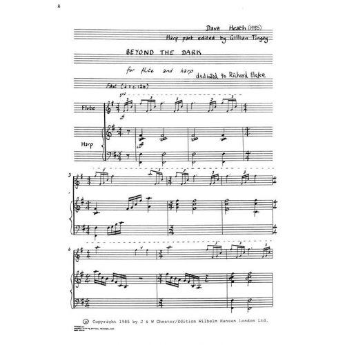 CHESTER MUSIC HEATH DAVE - BEYOND THE DARK - FLUTE & HARPE