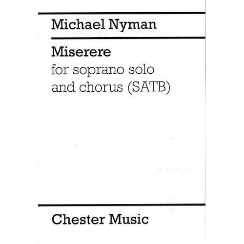 CHESTER MUSIC MICHAEL NYMAN MISERERE - SATB
