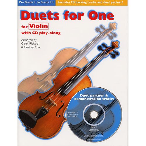 CHESTER MUSIC DUETS FOR ONE 2 VIOLONS AVEC CD
