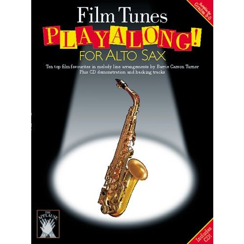 CHESTER MUSIC APPLAUSE FILM TUNES PLAYALONG FOR + CD - ALTO SAXOPHONE