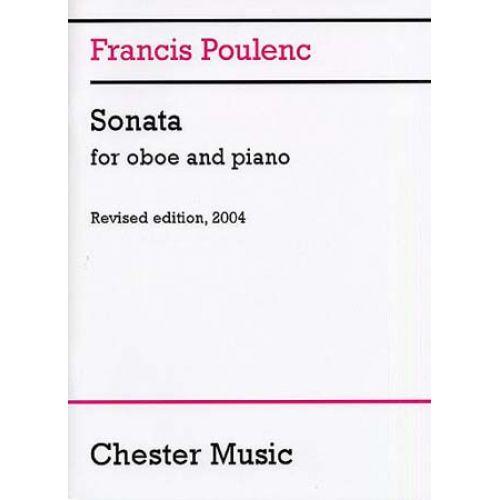 CHESTER MUSIC POULENC FRANCIS - SONATA - OBOE, PIANO