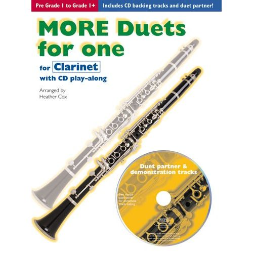 CHESTER MUSIC COX HEATHER - MORE DUETS FOR ONE - CLARINET