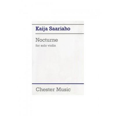 CHESTER MUSIC SAARIAHO KAIJA - NOCTURNE - VIOLON SOLO