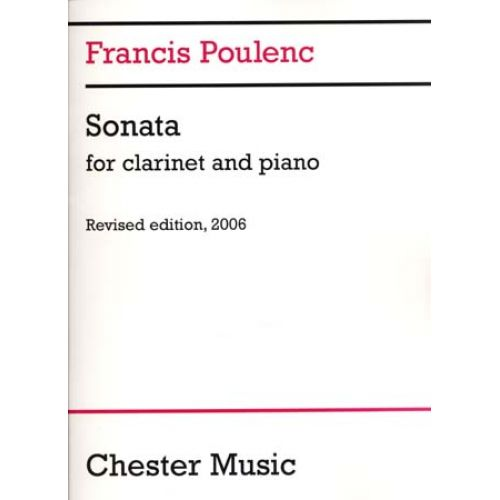 CHESTER MUSIC POULENC FRANCIS - SONATE - CLARINETTE & PIANO
